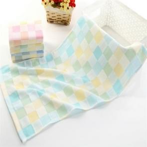 Children Wash Face Towel  Absorbent Soft Cotton Hand Towel(Green)