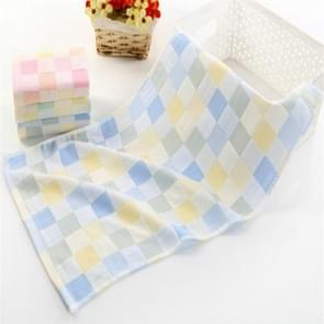 Children Wash Face Towel  Absorbent Soft Cotton Hand Towel(Blue)
