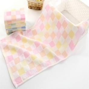 Children Wash Face Towel  Absorbent Soft Cotton Hand Towel(Pink)
