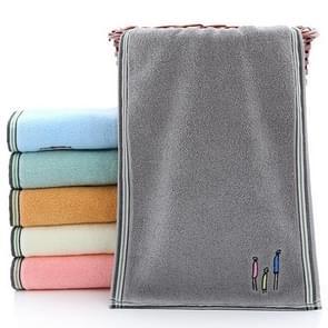 Cotton Cartoon Children Baby Face Towel(Gray)
