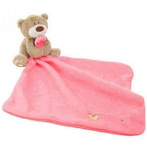 Cartoon Embroidered Bear Baby Care Towel(Pink)