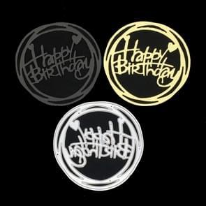 Round Happy Birthday Knife Die DIY Clip Book Album Greeting Card Making Stencil
