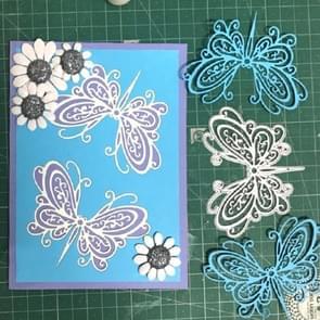 Butterfly stencil DIY clip boek album wenskaart maken stencil