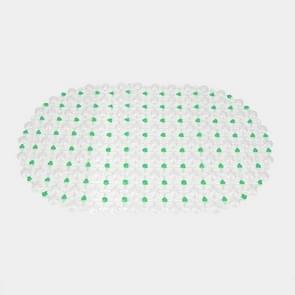 Non-slip PVC Bath Mat Bathmat Bathroom Shower Pad, Size : 36x67cm(Green)