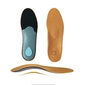 Corrected Flat Foot Arch Pad XO Leg Orthopedic Inner Eight-Shaped Corrective Insole, Size:39/40(Brown)