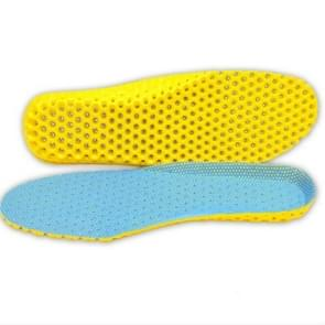5 Pairs Stretch Breathable Deodorant Running Cushion Insoles, Shoe Size:35(Sky Blue)