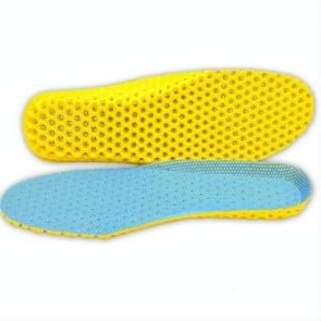 5 Pairs Stretch Breathable Deodorant Running Cushion Insoles, Shoe Size:44(Sky Blue)
