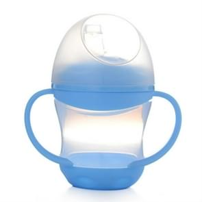 Baby Learn Drinking Bottle Silicone 160ml  Infant Water Milk Juice Min Cup Children Sippy Training Cups With Two Handles(Blue)