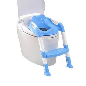 Baby Potty Training Seat Children Potty Baby Toilet Seat With Adjustable Ladder Infant Toilet Training Folding Safety Care Seat(Blue)