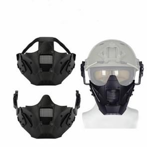 WoSporT Outdoor Sport Half Face Mask CS Game Protective Face Mask(Glack)