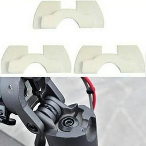3 in 1 Shock Absorption Shockproof Standing Handle Rubber Damper for Xiaomi Electric Scooter(White)
