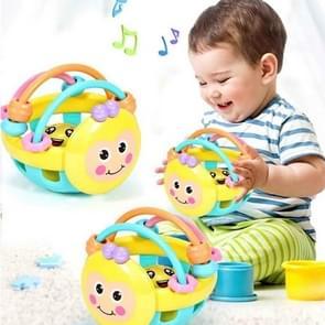 Zachte rubber cartoon Bee hand kloppen rammelaar halter vroege educatief speelgoed voor Kid hand Bell baby speelgoed (Bee rammelaar)