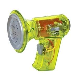 Kinderen houden Megaphones multi-frequentie veranderende hoorns varkens grappige megaphone speelgoed  kleur: geel drie-snelheid verandering