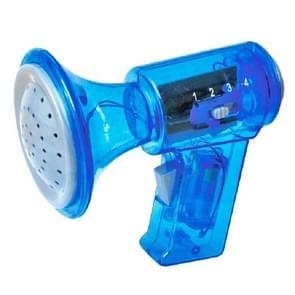Kinderen houden Megaphones multi-frequentie veranderende hoorns varkens grappige megaphone speelgoed  kleur: blauw vier-Speed verandering