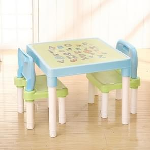 Opvouwbare Kinder studie tafel en stoel set plastic spel tafel (hemelsblauw)