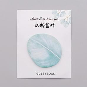 2 PCS Cute Tree Leaf Sticky Note Stickers Memo Pad Office Decoration School Supplies Stationery(Blue leaf)