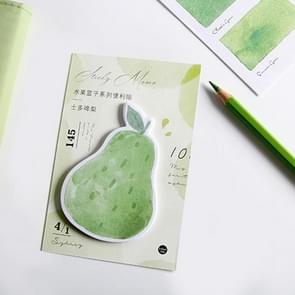 2 PCS Creative Fruit Party Watermelon Memo Pad Sticky Notes Memo Notepad Bookmark Gift Stationery(Pear)