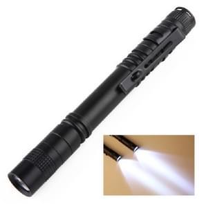 Mini LED pen-vormige sterke zaklamp pen clip toorts  grootte: 13.3 cm