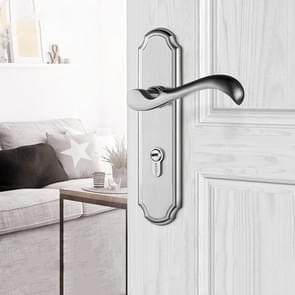 COBBE Indoor Slaapkamer Deurslot Badkamer Toilet Silent Deurhandvat Huishoudelijk universeel slot  kleur: roestvrij staal