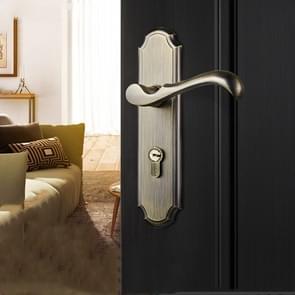COBBE Indoor Slaapkamer Deurslot Toilet Toilet Silent Deurhandvat Huishouden Universal Lock  Kleur: Groen Brons