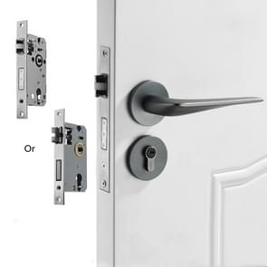 Magnetisch slot mute split lock solid space aluminium binnendeurslot  stijl: met standaard ronde basis (grijs)