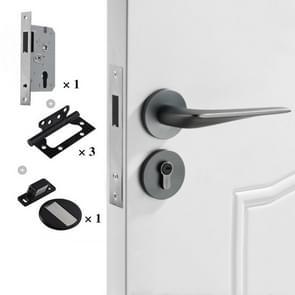 Magnetisch slot Mute Split Lock Solid Space Aluminium Binnendeurslot  Style:58 High-end Package(Grijs)