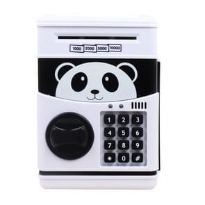 Simulation Cartoon ATM Password Safe Automatic Money Roller with Music Coin Piggy Bank(Panda)