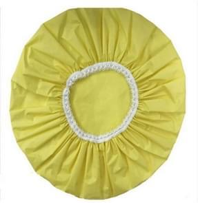 2 PCS Bath Solid Color Shower Cap Single Layer Plastic Waterproof Shower Cap(Yellow)