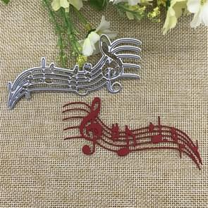 Musical Notes Staff Cutting Knife Die Cutting Book Greeting Card Album DIY Embossing Mold