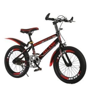 18 Inch Kinderfietsen 7-15 jaar kinderen zonder hulpwielen  Stijl: Single Speed Basic (Zwart Rood)