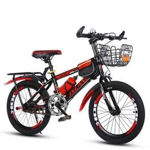 22 Inch Kinderfietsen 7-15 jaar kinderen zonder hulpwielen  stijl: single speed luxe (zwart rood)