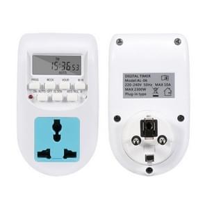 AL-06 220-240V Digitale timerschakelaaraansluiting  EU-stekker