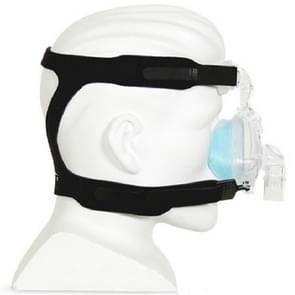 Ventilator Masker Vierpunts hoofdband zonder neusmasker voor Philips Wellcome / Resmy / Remart / Yuyue Ventilator(Zwart)