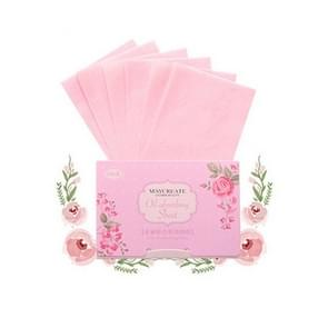 Plant Fiber ademend linnen make-up remover blotting papier gezicht schoonmaken tool  kleur: linnen roze