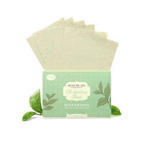 Plant Fiber ademend linnen make-up remover blotting papier gezicht schoonmaken tool  kleur: groene thee