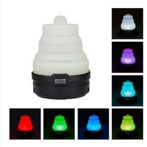 2 stks draagbare noodgeval Camping lantaarn tent zacht licht buiten opknoping 5 LED lamp (zwart)