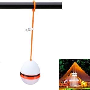 2 stuks LED draagbare lantaarn camping licht siliconen Lanyard opknoping tent lamp (oranje)