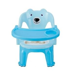 YF-2288 Portable Kindergarten Chair Baby Stool Dining Chair Kids Furniture Lovely with Backrest(Blue)