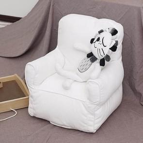 Schattige kinderen enkele mini sofa stoel kleuterschool sofa kind meubilair (wit)