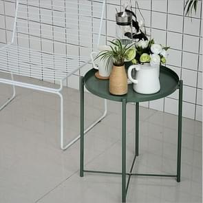 Nordic Iron Round Table Coffee Table Metal Small Round Table(Green)