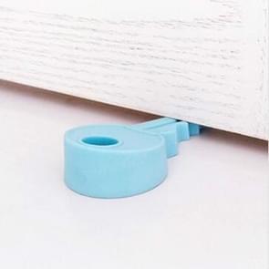 10 PCS Creative Key Silicone Door Resistance Windproof Door Stop Child Baby Anti-pinch Security Crash Pad(Blue)