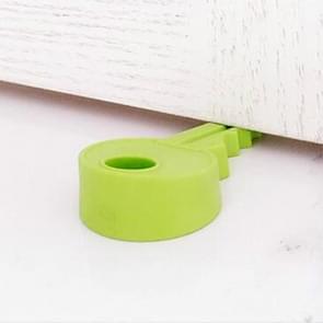 10 PCS Creative Key Silicone Door Resistance Windproof Door Stop Child Baby Anti-pinch Security Crash Pad(Green)