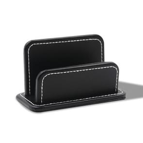 2 Blocks Office Stationery Leather Name Card Holder Stationery Bussiness  Office Home Card Holder(Black)