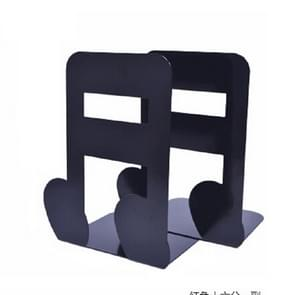 2 PCS Musical Note Metal Bookends Iron Support Holder Desk Stands For Books(Black Sixteenth)