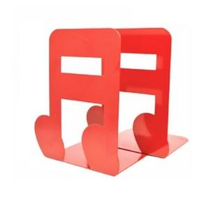 2 PCS Musical Note Metal Bookends Iron Support Holder Desk Stands For Books(Red Sixteenth)