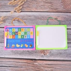 White Board Dry Wipe Board Mini Drawing Whiteboard Small Hanging Board with Marker Pen, Random Color Delivery