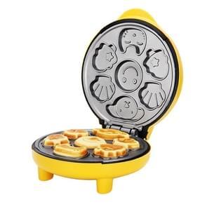 Huishoudelijke Taartmachine mini kinderen brood machine dubbelzijdige verwarming bakmachine (geel)