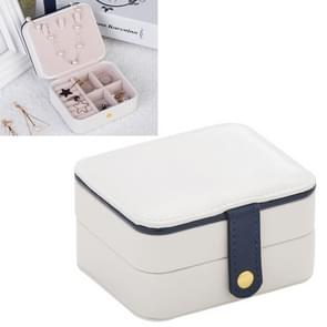 2 Tiers Jewelry Packaging Box Makeup Earrings Case Storage Organizer Container(White)