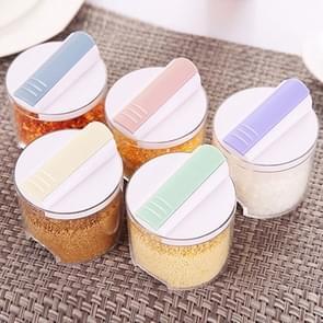 5 PCS Creative Transparent Seasoning Cans Kitchen Spice Rack Condiment Bottles Pepper Shakers Box
