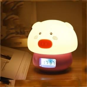 Kleurrijke kleur veranderende siliconen lamp USB Opladen Creatieve wekker (Rood)